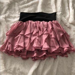 Soft & pretty Pink & Black bebe Skirt